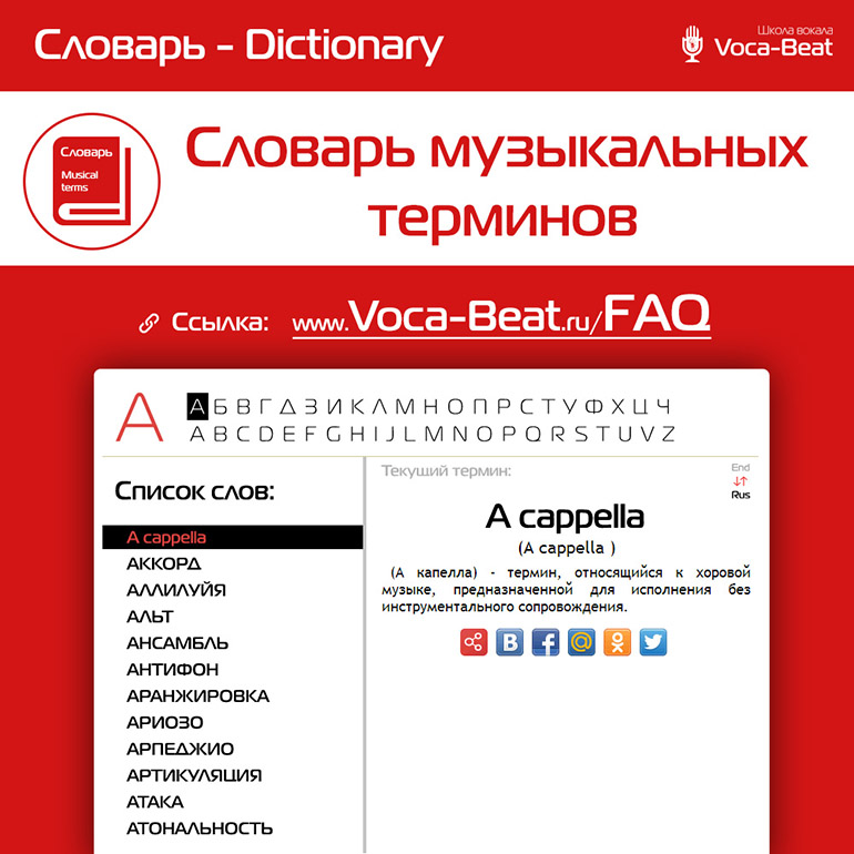 Словарь музыкальных терминов